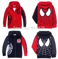 2014 New Arrive spring autumn children's clothing kids jacket clothes boys kids spider-man long sleeved zipper outerwear