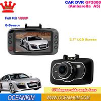 New Car DVR Camera GF2000 Ambarella A5S70 Full HD 1080P + G-Sensor + WDR + Night Vision Vehicle Camera Video Recorder Dash Cam