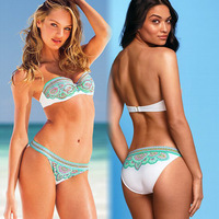 2014 New Bikini Bohemian National wind color printing  Bikini Sets  Free Shipping