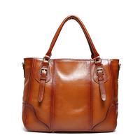 100% Genuine Leather Bags Women Leather Handbags Messenger Bags Handbags Frist Layer of Cowhide Totes Vintage Shoulder Bags 8048