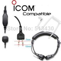 10PCS Icom Midland radios compatible throat microphone/ laryngophone transducer with dual sensors FREE FAST SHIPPING