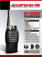 Ham portable BAOFENG BF888S UHF Handheld Two Way Radio FM Transceiver High Illumination Flashlight 10KM Walkie Talkie Free EMS
