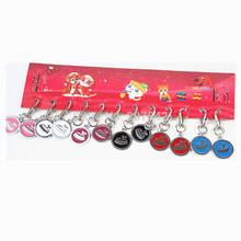cores misturadas redondo bonito metal em aço inoxidável cão tag pet cat id nome suprimentos charme independente(China (Mainland))