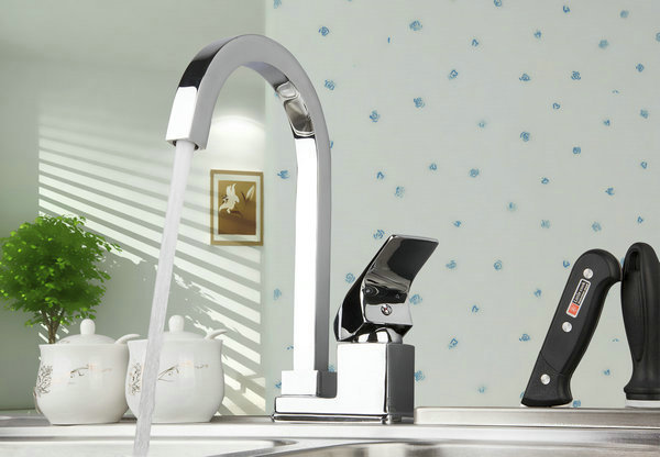 92281 Construction Real Estate Modern Hot Cold Device Swivel Kitchen Sink Bathroom Basin Mixer Tap Faucet
