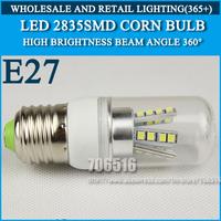 5PCS High brightness led bulb lamp Lights Corn Bulb E27 3W 4W 5W 7W 9W 2835SMD 360 degrees Cold white/warm white AC220V