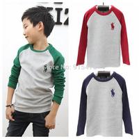 Free shipping spring autumn children's clothing wholesale children long sleeve t-shirt boys girls cotton leisure t shirt 5pcs/lo