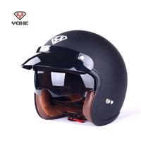 Free Shipping Yohe 859 Motorcycle Helmet Black Summer Retro Helmet Open Face Helmet Moto Capacete DOT ECE Helmet