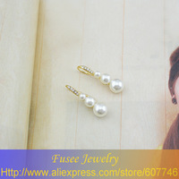 IZZ0148818K Gold Filled pearl earrings 2PCS/LOT