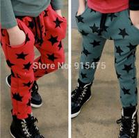 2014 New spring autumn children's clothing five-star child trousers boys kids leisure sports pants 5pcs/lot