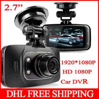 "10pcs GS8000L Car DVR Novatek 1080P +Glass lens +1920*1080+2.7""+HD+ 4 IR Lights + Wide Angle 140 Degrees+car camera DVR GS8000L"