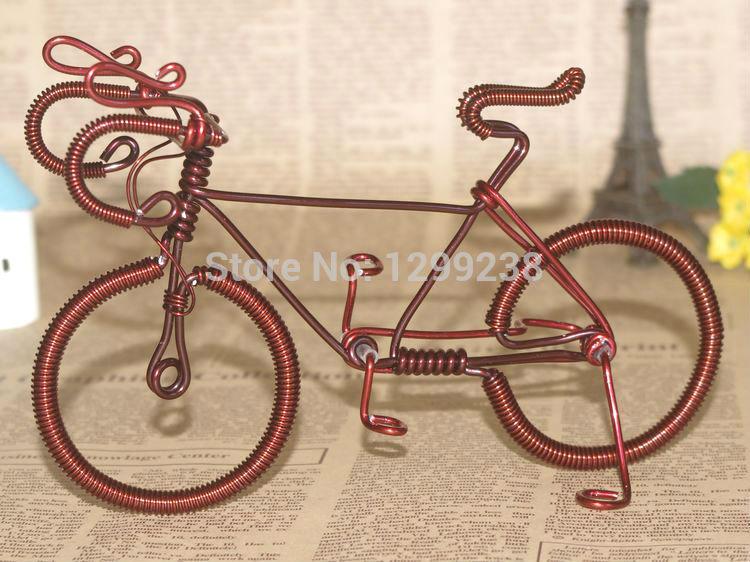 New Creative Bicycle Handmade Aluminum wire Souvenir handicraft gift Decoration Free Shipping(China (Mainland))