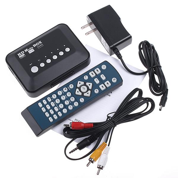 ACOSUN Mini TV Media Player 1080P HD USB HDMI VGA AV SD MMC RMVB MP3 AVI Divx MKV(China (Mainland))