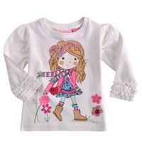 Foreign trade children's clothing spring models girls cotton long-sleeved T-shirt Girls Puff princess t-shirt design