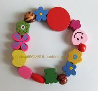 Cartoon wooden bracelet  handmade free shipping