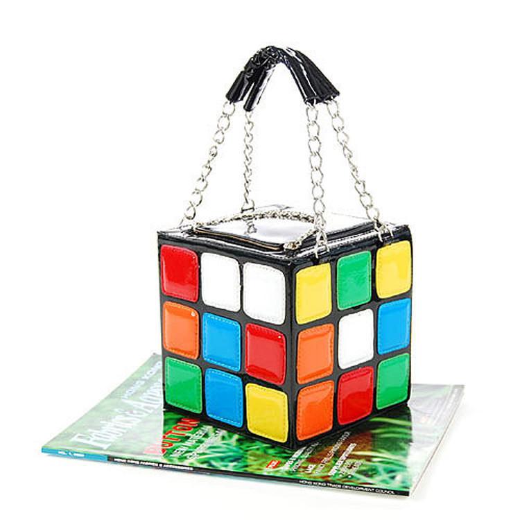 Fashion woment bag personality magic cube bag portable women's style handbag bag nonfunctional handbag practical(China (Mainland))