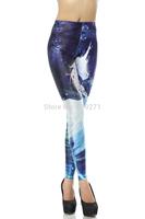 High Quality 2014 Summer Women Leggings 3D Printed Magic Horse Pattern Beauty High Waist  Pencil Pants DK112