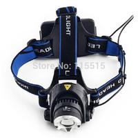 2000 Lumens CREE XM-L XML T6 LED Headlamp Headlight Flashlight Head Lamp Light 18650 + Car Charger for Hunting Camping