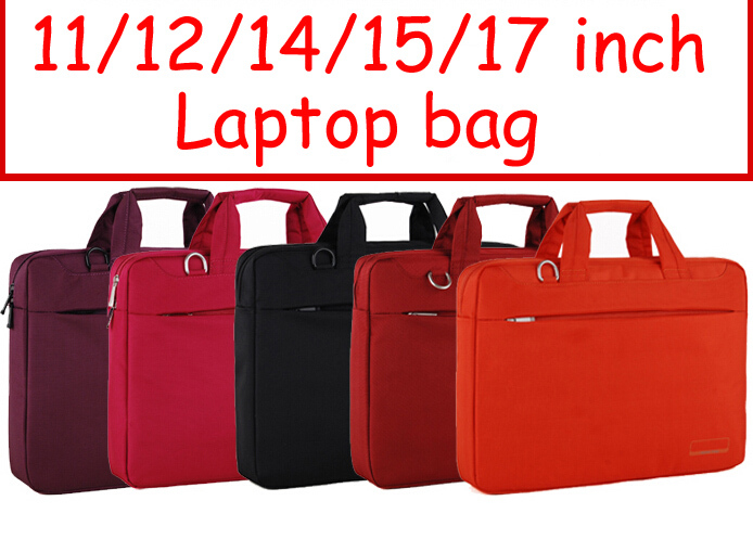 Solid 11 12 14 15 17 inch Computer laptop notebook tablet bags case messenger Shoulder bag