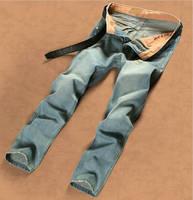 New 2014 Gentleman Retro 28-38 Travel Work Fashion Cotton Brand Mens Jeans Men Jeans Famous True Jeans Factory Outlet Sports