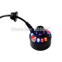 1 x 24V 12 LED light Ultrasonic Mist Maker Water Fountain Pond Decor Fogger Free Shipping