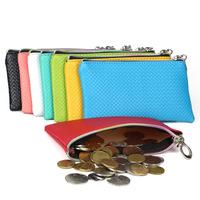 New! Fashion Pu Leather Coin Purse Women Wallet Daily Storage Change Purse Plaid Bag in Bag Clutch Ladies Handbag Free shipping