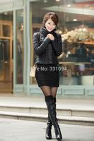 2014 New brand fashion women short paragraph down jacket 90% Duck down Winter coats jacket Women's Down jacket Free Shipping
