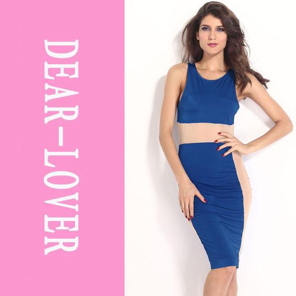 Innovative Women Dress Casual Look Slim Zebra Print Sexy Midi Dress 2016 New High