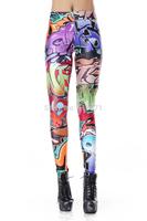 Hot sale New Fashion For 2014 Women Digital Printed Graffiti spray paint Leggings High Waist  Sexy Beauty  Pencil Pants DK183