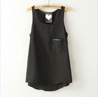 Shirt Women Fashion Apparel Top Tees Danny Woman Blouse Shirts Slim Fit  Sleeveless Cotton Clothing Round Neck