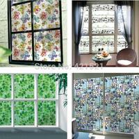 Hot Stained Glass Window Film, UV Block Vinyl film , Privacy Decorative Glass Sticker 45*200cm Free Shipping