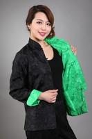 2014 New Fashion Chinese tradition Two-side wear Women Jacket Coat Outerwear Long Sleeves Size: M,L,XL,XXL,XXXL MN0095