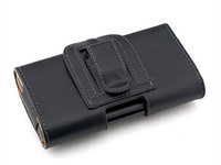 2014 new free shipping + black Waist to hang Leather Pouch pu Leather Holster Cover for philips xenium w6610 case