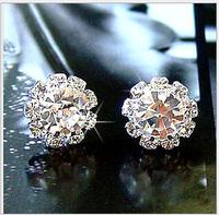 2014 new arrivals Korean Jewelry, OL fashion flash earrings zircon earrings wholesale YT0222
