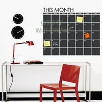 week blackboard wall sticker, DIY home decoration Vinyl waterpoof  Removable chalkboard sticker, DQ2014093 Free Shipping