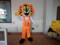 POLYFOAM high quality costume orange hair tiger mascot costumes