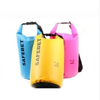 Free Shipping 5 colors 2014 Wholesale Hot Sale Men's Outdoor Travel Rafting Dry High Quality Waterproof  PVC Surfing Bag BT024
