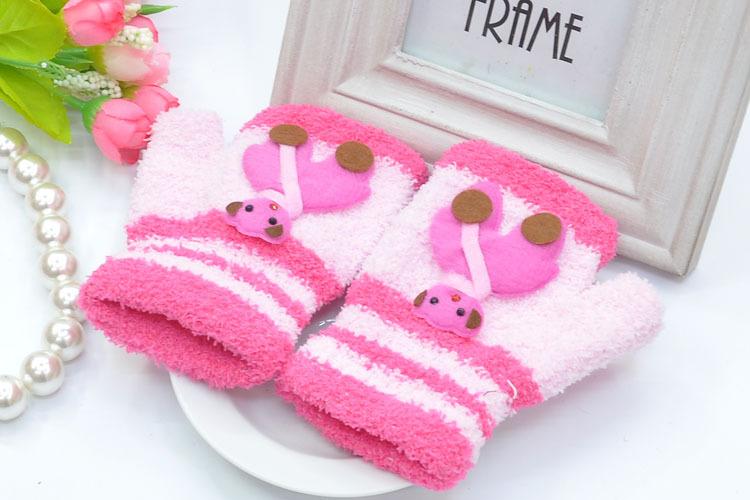 Мода мило нечетких варежки перчатки &
