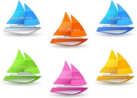 Free Shipping Via Fedex or DHL , Wholesale Paper Air Freshener , Hanging Paper Perfume,Sailing boat shape Car Air Freshener