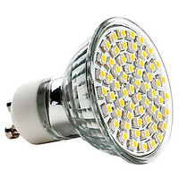 GU10 2.5W 60x3528SMD 240LM 2700K Warm White Light LED Spot Bulb (220-240V)