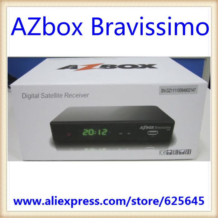 New! 2pcs/lot Azbox Bravissimo HD Box for Brazil , Free shipping(China (Mainland))