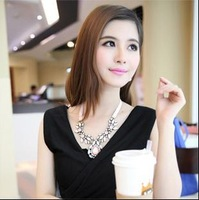 N00426 2014 Free Shipping ! necklaces & pendants Trend fashion pink choker statement necklace women jewelry Factory Price