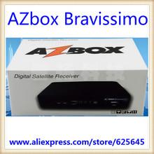 Hot américa do sul HD set top box AZBOX Bravissimo local fábrica Freeship aplicar ao brasil receptor de satélite receptor de televisão(China (Mainland))