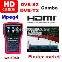 2014 New Arriavel HDMIDVB-S2 & DVB-T2 DVB-T  dvbt Combo Meter SIGNAL FINDER WS6959 satellite meter  terrestrial finder