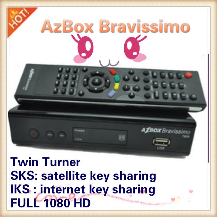 HOT! 2pcs/lot azbox bravissimo hd twin for Brazil , Free shipping(China (Mainland))
