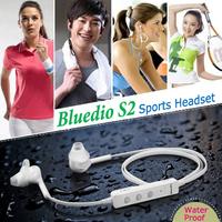 New Fashion Bluedio S2 Sports Bluetooth Headset Stereo Earbuds Earphone Wireless Headphone Built-in Microphone Water/Sweat Proof