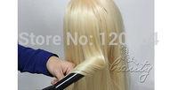 Practice Training Head 30% Real Human Hair Cosmetology Practice Training Head Mannequin