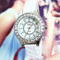 Relogio Feminino Women Watches Wholesale Fashion Charm Style Bracelet Watch Ceramic Women Rose Design For Ladies Free Shipping