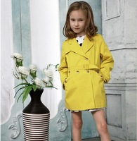 6pcs/lot  2014 new  autumn new trench arrival children's clothes girls coat windbreaker jacket fall fashion girl 2 colors