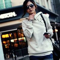 2014 Big Size New Autumn Hoodies Sweatshirt Women Sport Suit Hoodie Pullover Fleece Winter Warm Sweatershirts Girls XL XXL XXXL