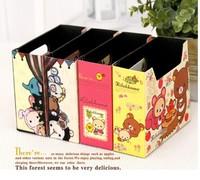 Min.order is $15 (mix order) C315 Fashion Cartoon Mini Desktop  Storage Boxes Bins Size 15CM*13*5.5CM